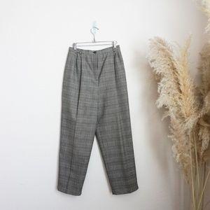 Herve Bernard vintage plaid pencil trouser pants
